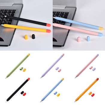 Stylus Penpoint Cover dla Apple Pencil 1 Pen Point miękki futerał ochronny silikonowy futerał ochronny dla Apple Pencil 1 2 skrzynki pokrywa tanie i dobre opinie AILEHKUO NONE CN (pochodzenie) Ekran pojemnościowy TABLETY 6 58inch for Apple pencil 1 Silicon Capacitive Screen Tablets