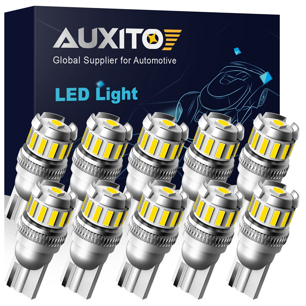 Bombillas LED AUXITO 10x W5W T10 para posición de estacionamiento de coches Canbus, luz Interior para BMW VW, Mercedes, Audi A3, 8P, A4, 6B, BMW, E60, E90