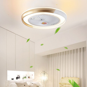 ventilator lamp Bluetooth APP smart ceiling fan with light remote control fans with lights air cool bedroom decor 50cm modern