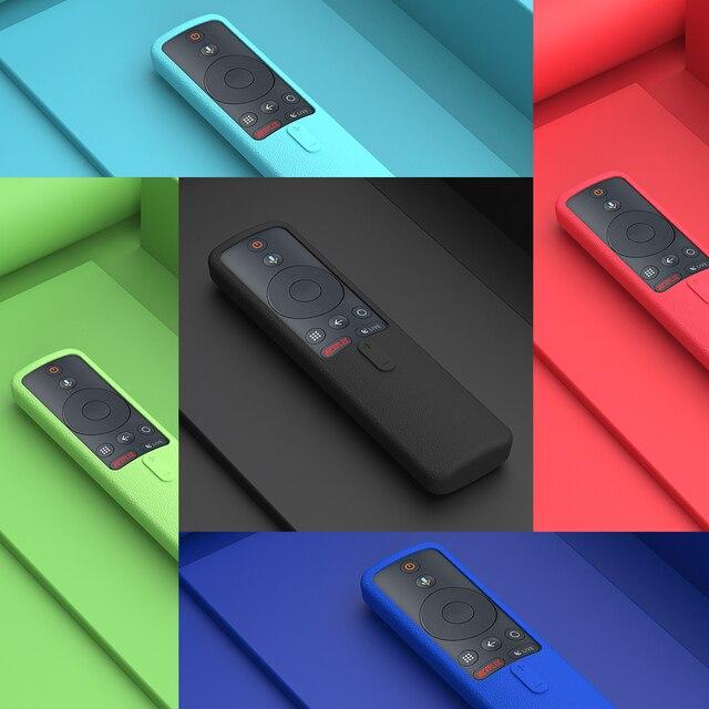SIKAI Remote Case for Xiaomi Mi Box S 4X Mi TV Stick Control Cover Silicone Shockproof Skin-Friendly Protector 6
