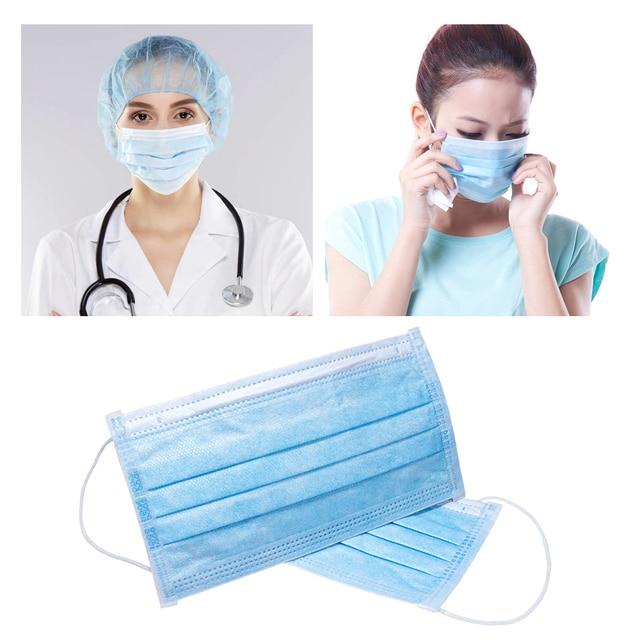 50pcs Disposable Mask Face Mouth Safety Masks Breathable Masks Earloops Fogs Haze PM 2.5 Face Mouth Masks Respirator Mask 3