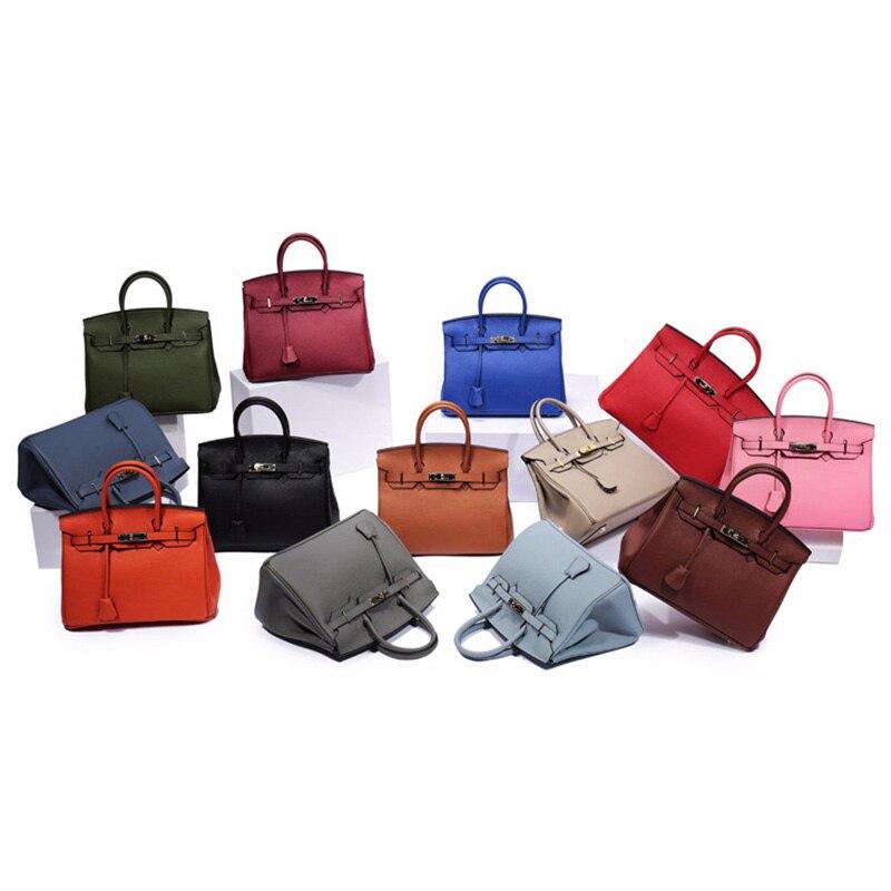 Женская сумка из натуральной кожи 2019, роскошные сумки через плечо, дизайнерский замок сумки через плечо, клатчи известных брендов, сумки - 4