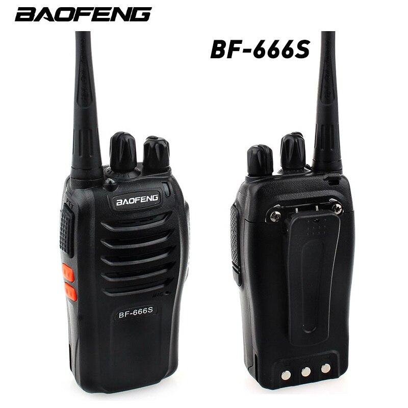 """1 шт. Baofeng BF-666S иди и болтай Walkie Talkie """"иди и Портативный радио 16CH UHF 400 - 470 МГц 2800 мАч Батарея 5 Вт Comunicador передатчик трансивера"""