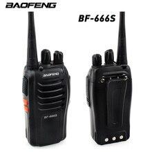 1Pcs Baofeng BF-666S Walkie Talkie Portable Radio 16CH UHF 400 - 470MHz 2800mAh Battery 5W Comunicador Transmitter Transceiver