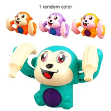 Toy Monkey-Toy Animal-Model Voice-Control-Induction Rolling Baby Children Gift Banana