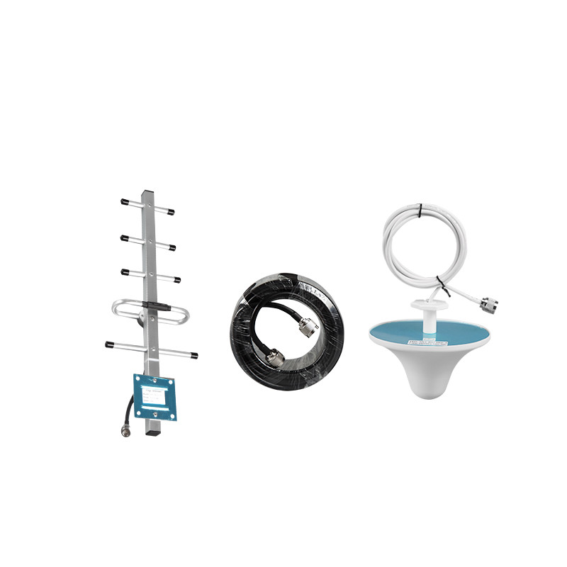 Antenna Set 8dB Outdoor Yagi 3dB Indoor Ceiling Antenna 10 Meters Cable For 850Mhz 900Mhz Gsm 2g 3g Signal Booster