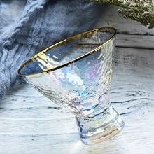Хрустальное стекло йогурт холодный напиток чашка многоцветный мороженое чаша Кубок десерт бокал вина дома stemless Лулу Лимон Посуда для напитков