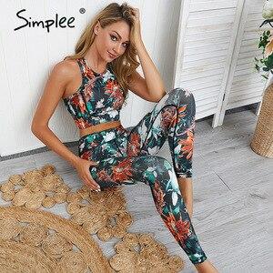 Simplee с высокой талией Цветочные женские длинные джампсьюты, комбинезоны-мини, летние повседневные женские облегающие комбинезоны, модные у...