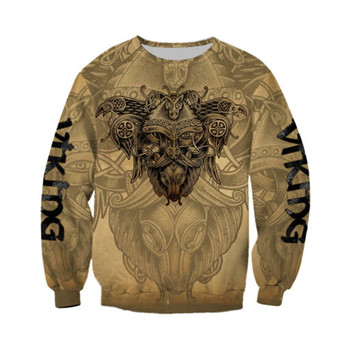 Viking Odin 3D Printed Jacket Men/women Harajuku Hoodie Unisex Casual Streetwear Sweatshirt Pullover sudadera hombre AD040 2