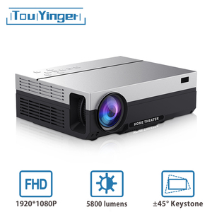 Touyinger T26L T26K 1080p LED full HD Projector Video beamer 5800 Lumen FHD 3D Home cinema HDMI ( Android 9.0 wifi AC3 optional)(China)
