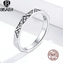 Patterns-Rings 925-Sterling-Silver Jewelry Zircon Geometric Wedding-Statement Women Pave