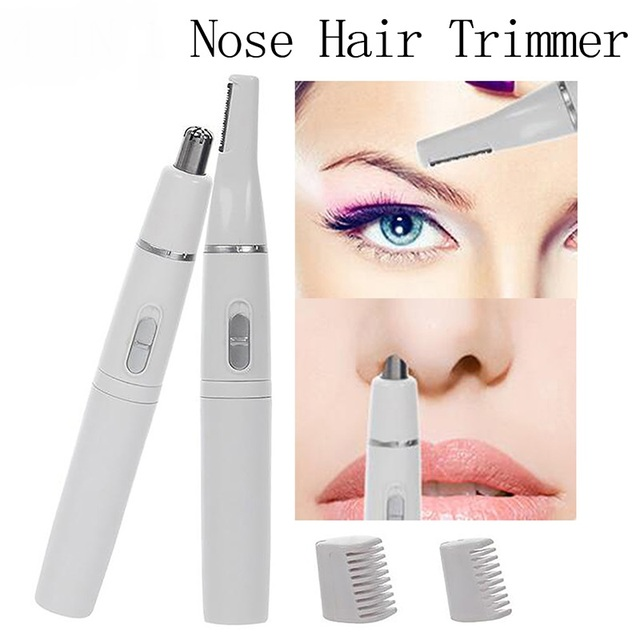 2 In 1 Electric Eyebrow Trimmer Shaver Women Eyebrow Painless Hair Removal Pens Makeup Mini Eye Brow Razor Hair Epilator 1