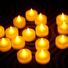 24pcs LED Tea Light Candles led with Battery-Powered Flameless Candles for Church Birthday Party Wedding Home Decoartion Lightin недорого