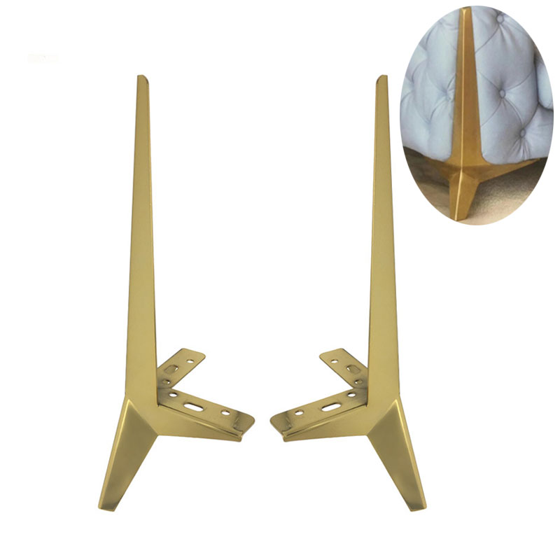 15cm Furniture Legs Gold Metal Heavy Duty Support Leg Bracket For Table Sofa Cabinet Chair Feet Corner Protector Furniture Parts