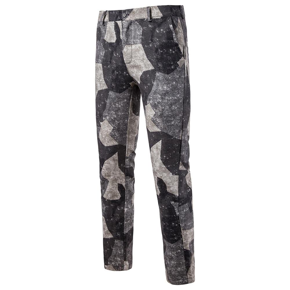 Мужская Мода Национальный Ветер Повседневное модные Для мужчин Блейзер Для мужчин s Брюки - Цвет: 08