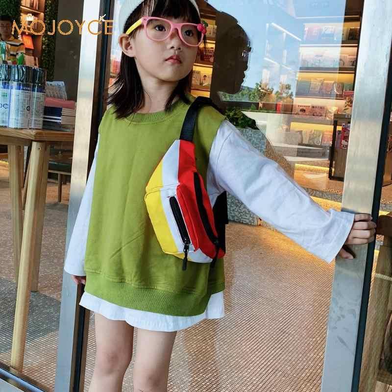 Nylon sac banane décontracté enfants poitrine Pack Hit couleur épaule bandoulière sacs lettre Bum sac Packs mode poitrine sac à bandoulière ceinture