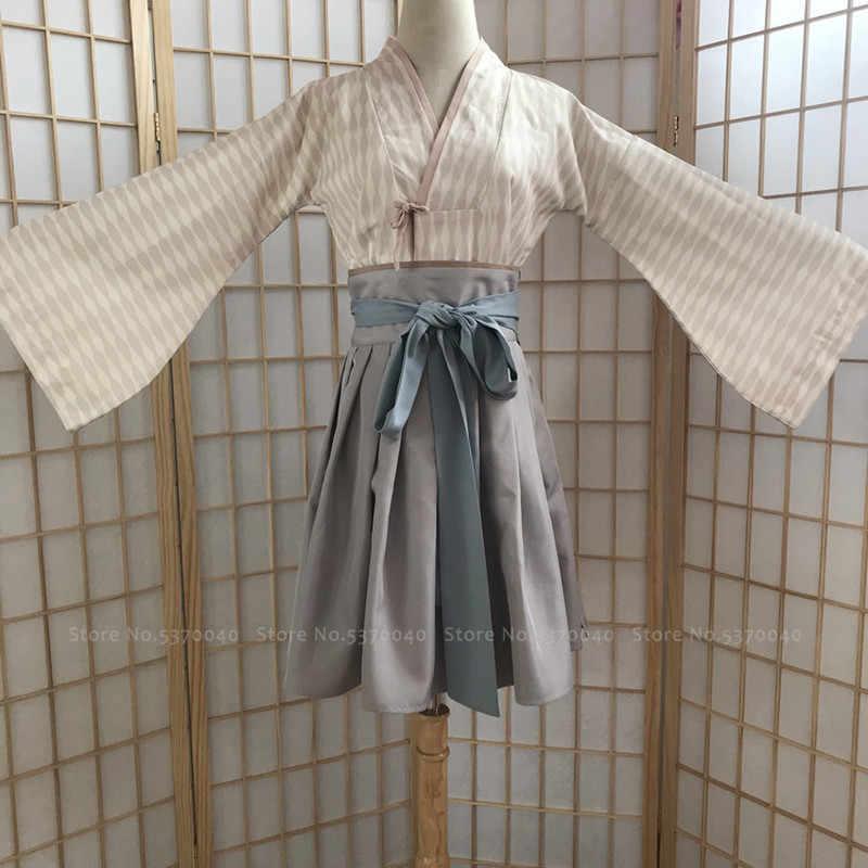 Phụ Nữ Trung Quốc Truyền Thống Hanfu Retro Đầm Công Chúa Nhà Đường Phù Hợp Với Điệu Nhảy Dân Gian Trình Diễn Trang Phục Haori Kimono Bộ Yukata Áo Dây