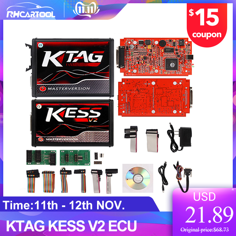 OBD2 Online EU Version KESS V5.017 SW V2.23 V2.47 No Token Limit Kess V2 5.017 Ktag V7.020 Bdm Frame OBD2 Manager Tuning Kit Car