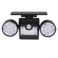 4PCS Outdoor Solar Light, Motion Sensor Safety Light, Solar Wall Light with Double Head Spotlight, 30 LED Waterproof 360°Adjusta