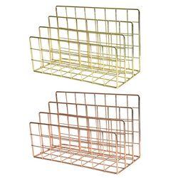 Grid 3 Compartimenten Boekenplank Tijdschrift File Organizer Houder Smeedijzeren Rack X6HB
