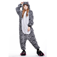 Zebra Unisex Adult One-Piece Pajamas Cosplay Onesies Cartoon Animal  One-piece Sleepwear Pyjamas Christmas Halloween Costume