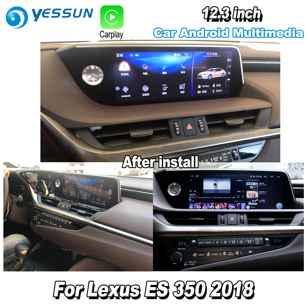 For Lexus ES 350 2018 Car Android Multimedia GPS Navigation Player Audio Radio Stereo HD Screen DVR Driving Video Recorder|Car Multimedia Player| |  - title=