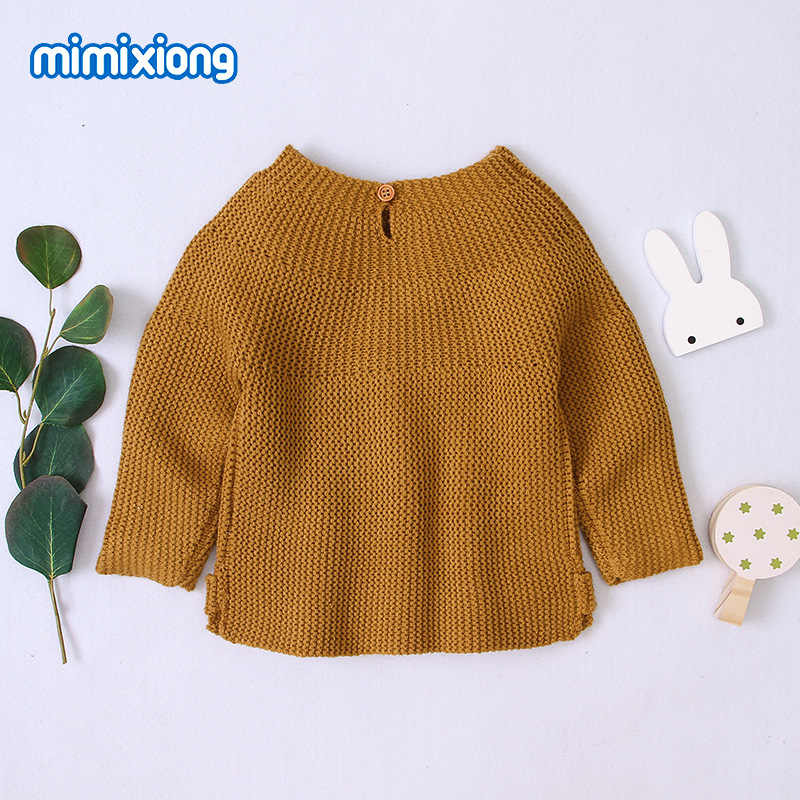 תינוק סוודרים סוודרי אופנה מוצק סרוג סריגי חולצות סתיו חורף יילוד בגדי 0-18M ארוך שרוול
