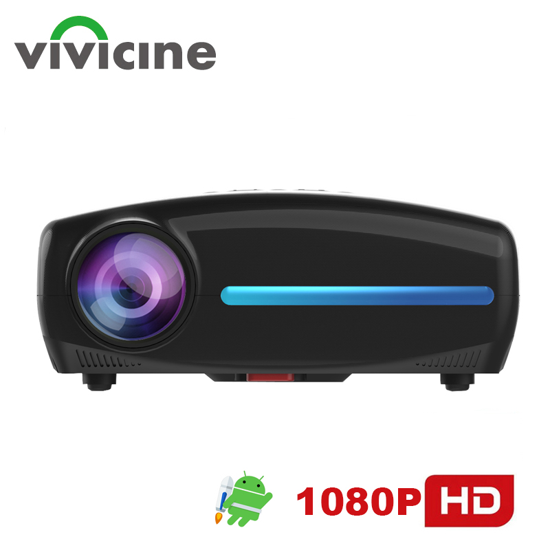 Vivicine S4 Built-in Android 9.0 HD 1080p Home Theater Video Projector,Support 4K USB PC Multimedia Movie Proyector Beamer