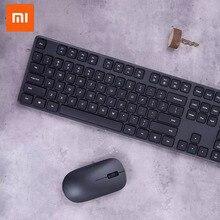 Беспроводная клавиатура и мышь Xiaomi, Набор беспроводной Офисной Беспроводной передачи, многофункциональный Быстрый простой тонкий с логотипом Mi
