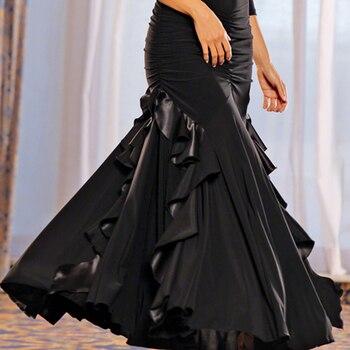 Custom Flamenco Dance Clothes Flamenco Skirts Ballroom Skirt Dance Wear Waltz Skirt Spanish Dance Dresses Modern Dance Costume