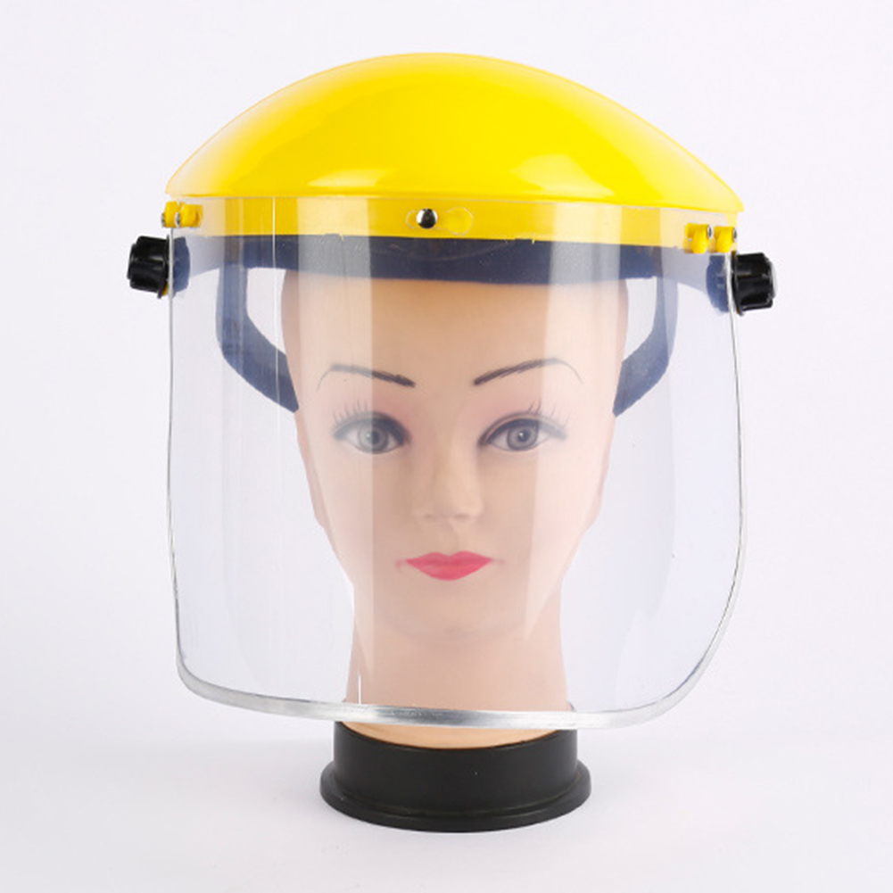 Mask Visors Adjustable Angel Eye Clear PVC Guard Splash Proof Safety Grinding Face Shield Protective Gear Electric Welding
