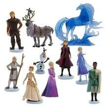Caliente Disney princesa figura de acción muñecas congelados Elsa Anna Kristoff Sven Olaf modelo de juguete para niños, regalo de Navidad de la torta