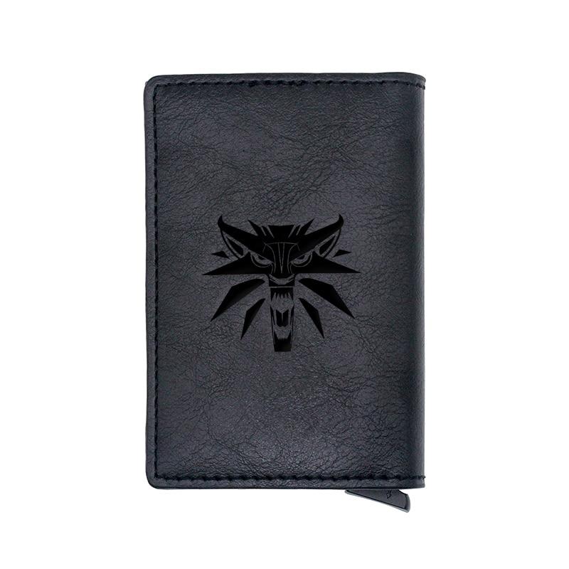 Classic Fashion Witcher Wolf Design Card Holder Wallets Men Women Rfid Leather Short Purse Slim Mini Wallet Small Money Bag