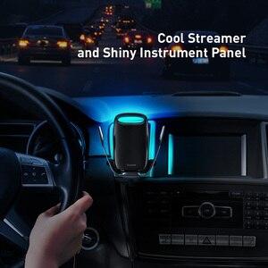 Image 3 - Baseus araç telefonu tutucu kablosuz şarj için iPhone desteği hızlı şarj 3.0 hava firar dağı tutucu araba kablosuz şarj tutucu