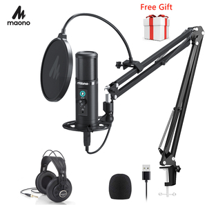 Image 1 - 100% MAONO PM422 USB Microphone Zero Latency Monitoring 192KHZ/24BIT Professional Cardioid Condenser Mic With Touch Mute Button