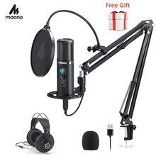 100% micrófono profesional de condensador cardioide MAONO PM422, dispositivo USB con control de latencia cero, 192KHZ/24 bits, con botón de silencio táctil