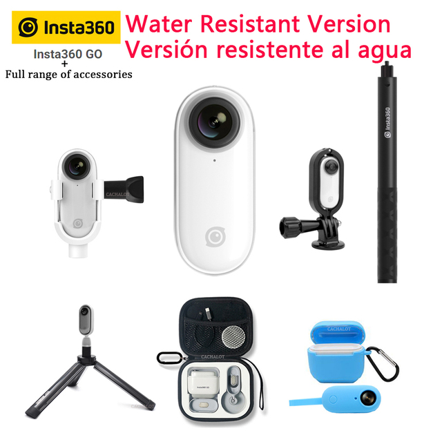 Insta360 GO yeni eylem kamera AI otomatik düzenleme Hands free Insta 360 gitmek küçük sabit kamera iPhone ve android