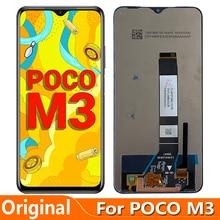 Original 6.53'' For Xiaomi Poco M3 LCD Display Screen Touch Panel Digitizer M2010J19CG M2010J19CT LCD Glass