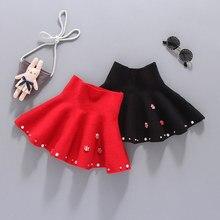 Осенне-зимняя детская вязаная юбка плиссированная юбка для девочек детская одежда для девочек вечерние юбки-пачки Etek для девочек одежда для малышей Saia Faldas