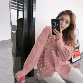 Early autumn womens clothing 2020 new ladies sweater coat loose outer wear short knitted cardigan women spring and