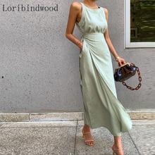 2020 New arrival Fashion Elegant Sleeveless Dress For Women O Neck Sleeveless Hi