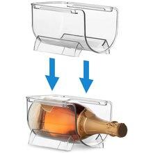 Прозрачная бутылка для вина органайзеры Штабелируемый пластиковый