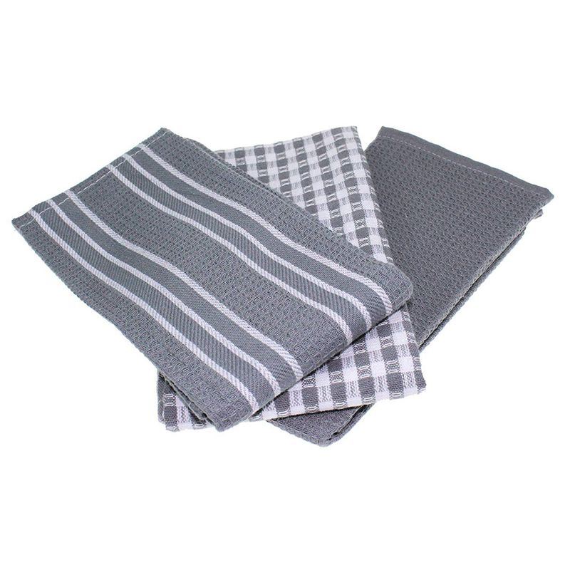 New Classic Kitchen Towels  100% Natural Cotton  The Best Tea Towels  Dish Cloth  Absorbent and Lint Free  Machine Washable  18 Cleaning Cloths     - title=