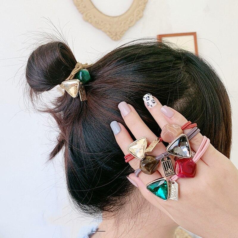Woman Korean Style Pearl Hair Ties Exquisite Elastic Hairband Hair Rope Girls Hair Rope Gum Women Hair Accessories Ornaments