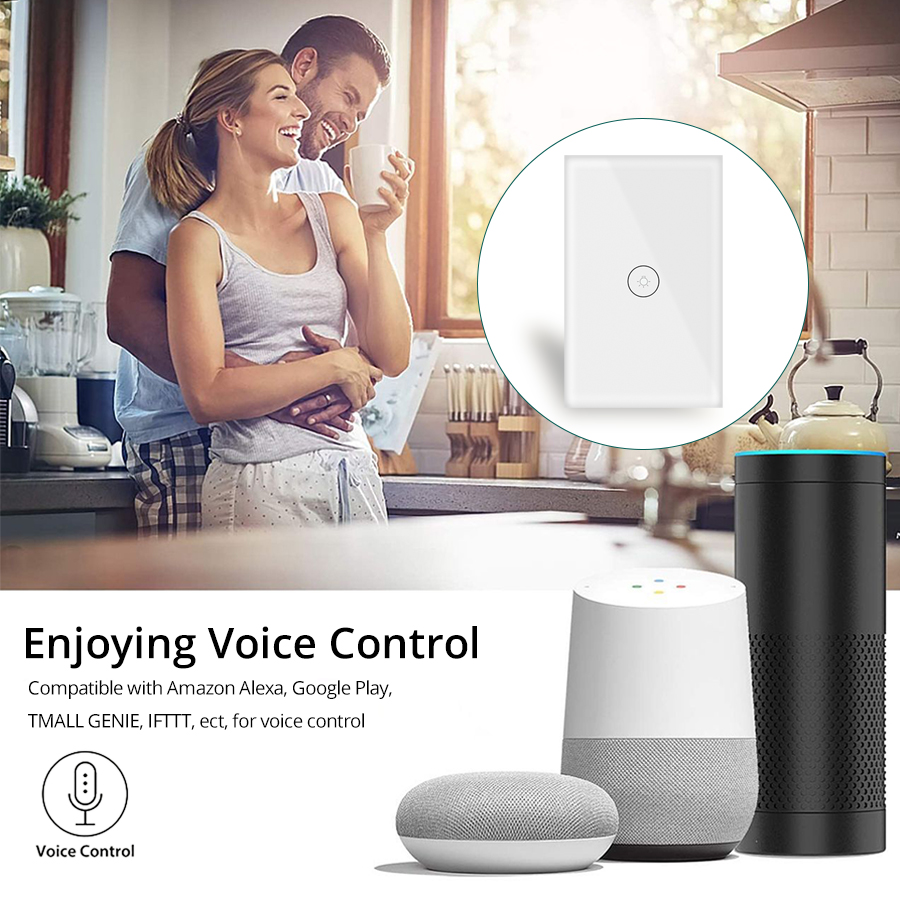 Top SaleSmart-Switch Interruptor-Work Sensor Wifi Wall-Touch Google Home with Alexa IFTTT 1-2-3∩