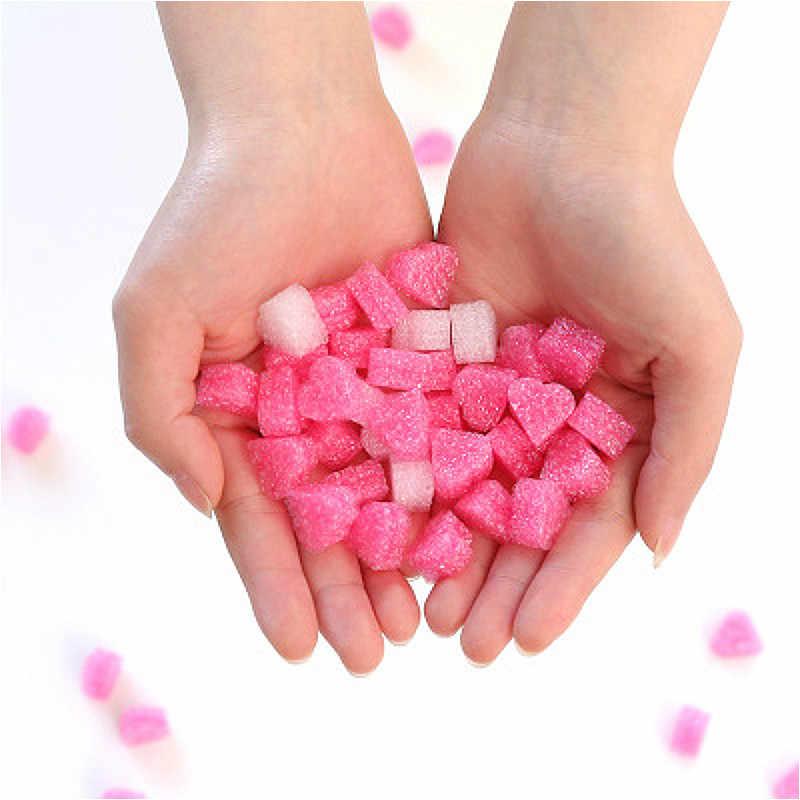 Pembe Mini kalp aşk boncuk hediye kutusu dekorasyon ambalaj düğün çiçek hediye kutusu dolgu DIY parti malzemeleri bebek duş