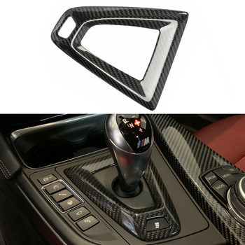Carbon Fiber Shifter Console Base Trim Decor For BMW F80 M3 / F82/F83 M4 M-DCT High Quality Material Car Interior Accessories image