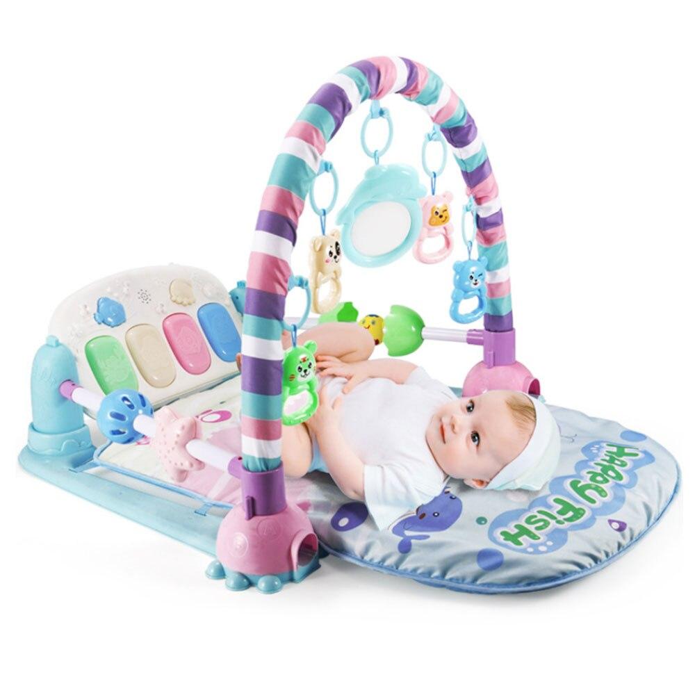 Tapis de jeu Musical bébé tapis enfants Puzzle éducatif jouets tapis avec clavier Piano bébé Gym ramper activité tapis jouets