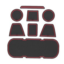 Anti-Slip Car Door Rubber Cup Cushion Red Gate Slot Pad for Toyota 86 Subaru BRZ GT86 FT86 Scion FR-S 2012~2019 Mat Accessories(China)