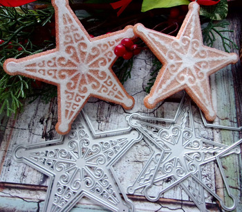 Creación sorpresa corte troqueles estrella ornamento Toppers álbum de recortes Cardmaking bricolaje artesanía de papel plantilla Metal troqueles